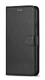 Oppo A12 Cüzdanlı Kapaklı Siyah Deri Kılıf