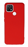 Anti-Shock Oppo A15s Kırmızı Silikon Kılıf