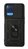 Eiroo Magnet Lens Oppo A54 Ultra Koruma Siyah Kılıf