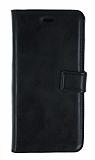 Oppo A72 Cüzdanlı Kapaklı Siyah Deri Kılıf