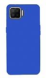 Oppo A73 Mat Mavi Silikon Kılıf