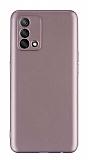 Oppo A74 Kamera Korumalı Mat Rose Gold Silikon Kılıf