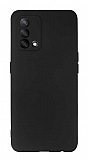 Oppo A74 Kamera Korumalı Mat Siyah Silikon Kılıf