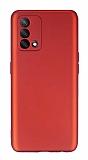 Oppo A74 Kamera Korumalı Mat Kırmızı Silikon Kılıf