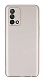 Oppo A74 Kamera Korumalı Mat Gold Silikon Kılıf