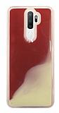 Oppo A9 2020 Neon Kumlu Kırmızı Silikon Kılıf