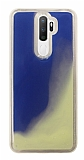 Oppo A9 2020 Neon Kumlu Mavi Silikon Kılıf
