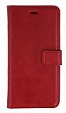 Oppo A92 Cüzdanlı Kapaklı Kırmızı Deri Kılıf