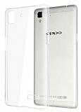 Oppo R7 Şeffaf Kristal Kılıf