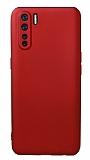 Oppo Reno3 Kamera Korumalı Kırmızı Silikon Kılıf
