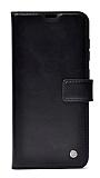 Kar Deluxe Oppo Reno3 Kapaklı Cüzdanlı Siyah Deri Kılıf