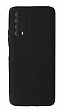 Huawei P Smart 2021 Kamera Korumalı Siyah Silikon Kılıf