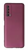 Huawei P Smart 2021 Kamera Korumalı Mürdüm Silikon Kılıf