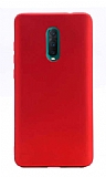 Oppo RX17 Pro Mat Kırmızı Silikon Kılıf