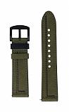 Oppo Watch 46 mm Dikişli Gerçek Deri Yeşil Kordon