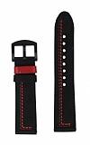 Oppo Watch 46 mm Dikişli Gerçek Deri Siyah Kordon