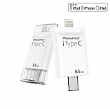 PhotoFast iTypeC 4in1 64GB Lightning / Type-C / USB 3.0 / MicroUSB i-FlashDrive