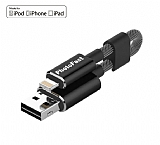 PhotoFast MemoriesCable GEN3 128GB Lightning / USB 3.0 Siyah Şarj Kablolu i-FlashDrive