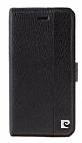 Pierre Cardin iPhone 5 / 5S Standl� C�zdanl� Siyah Deri K�l�f
