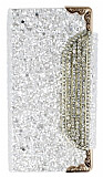 PinShang Buckle iPhone 5 / 5S Ta�l� C�zdanl� Beyaz K�l�f