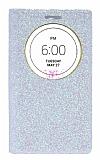 Pinshang LG G3 Pencereli Simli Beyaz Kılıf