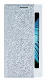 Pinshang LG K10 Pencereli Simli Silver Kılıf
