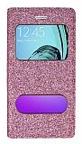 Pinshang Samsung Galaxy A3 2016 Pencereli Simli Pembe Kılıf