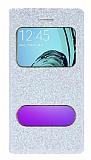 Pinshang Samsung Galaxy A3 2016 Pencereli Simli Beyaz Kılıf