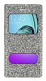 Pinshang Samsung Galaxy A3 2016 Pencereli Simli Gold Kılıf