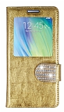 PinShang Samsung Galaxy A5 Pencereli Ta�l� Standl� Rugan Gold K�l�f