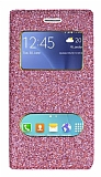 Pinshang Samsung Galaxy J2 Pencereli Simli Pembe Kılıf