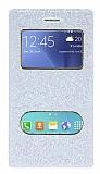 Pinshang Samsung Galaxy J2 Pencereli Simli Beyaz Kılıf