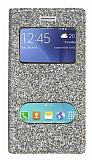 Pinshang Samsung Galaxy J2 Pencereli Simli Gold Kılıf