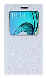 Pinshang Samsung Galaxy J3 Pencereli Simli Beyaz Kılıf