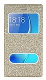 Pinshang Samsung Galaxy J5 2016 Pencereli Simli Gold Kılıf