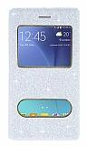 Pinshang Samsung Galaxy J5 Pencereli Simli Beyaz Kılıf