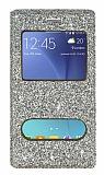 Pinshang Samsung Galaxy J5 Pencereli Simli Gold Kılıf