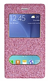 Pinshang Samsung Galaxy J7 Pencereli Simli Pembe Kılıf