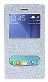 Pinshang Samsung Galaxy J7 Pencereli Simli Beyaz Kılıf