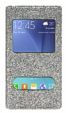 Pinshang Samsung Galaxy J7 / Galaxy J7 Core Pencereli Simli Gold Kılıf