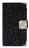 PinShang Samsung Galaxy Mega 6.3 Ta�l� Kapakl� C�zdan Siyah K�l�f