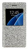 Pinshang Samsung Galaxy S6 Pencereli Simli Gold Kılıf