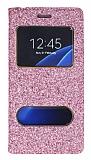 Pinshang Samsung Galaxy S7 Pencereli Simli Pembe Kılıf
