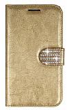 PinShang Samsung i9082 Galaxy Grand / i9060 Grand Neo Ta�l� Standl� C�zdan Rugan Gold K�l�f