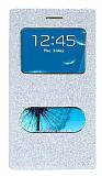 Pinshang Samsung i9300 Galaxy S3 Pencereli Simli Beyaz Kılıf