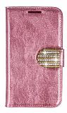 PinShang Samsung N7100 Galaxy Note 2 Ta�l� Standl� C�zdan Rugan Pembe K�l�f