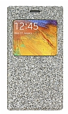 Pinshang Samsung N9000 Galaxy Note 3 Pencereli Simli Gold Kılıf