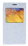 Pinshang Samsung N9000 Galaxy Note 3 Pencereli Simli Beyaz Kılıf