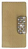 PinShang Samsung N9000 Galaxy Note 3 Ta�l� C�zdanl� Gold Deri K�l�f