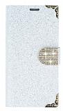 PinShang Sony Xperia M5 Ta�l� Kapakl� C�zdan Beyaz K�l�f